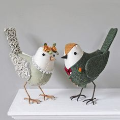 Your special birds will be lovingly handmade to order. A perfect way to commemorate your Wedding day, these delightful characters will make a