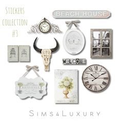 Sticker collections at Sims4 Luxury via Sims 4 Updates