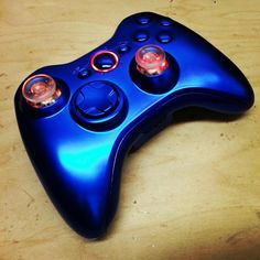 An Arbiter Modded Blue Chrome Xbox 360 Controller with Modsticks Triggers, LED Thumbsticks and SureGRIP Finish!  #customcontroller #moddedcontroller #bluechrome #controller #xbox360 #xbox360controller #kwikboymodz  http://www.kwikboymodz.com/blue-chrome-xbox-360-controller/