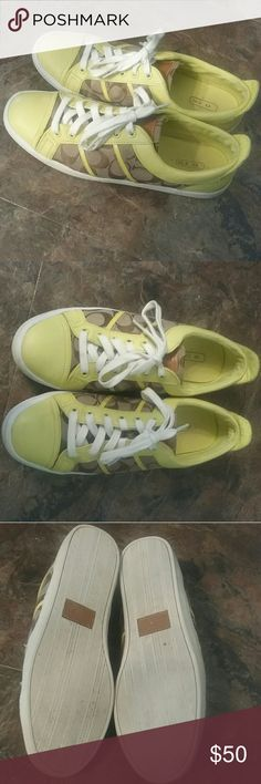 Alivia yellow coach size 10 shoes In good used condition size 10 no major marks or flaws Coach Shoes