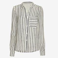 A.L.C. Troy Stripe Pattern Blouse