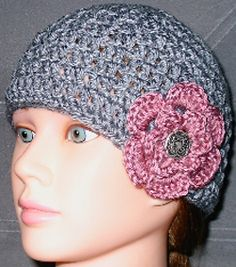 Easy crochet hat pattern. In the process of making this sans flower. So far so good!