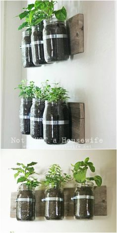 DIY Wall Planter - 30 Mind Blowing DIY Mason Jar Organizers You'll Want To Make Right Away