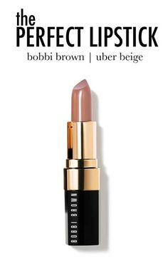 The Perfect Shade of Lipstick -- It's not pink and it's not too light. It really just enhances lip color as opposed to covering up and/or changing. #brownlipstick