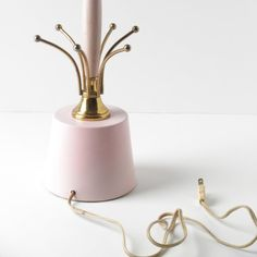 Mid Century Lamp / Pink & Gold Atomic Table Lamp by ElefawnVintage