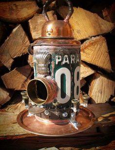 Metal Repurposed Birdhouse