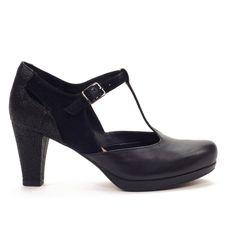 Zapatos negros de vestir formales Soft Style para mujer