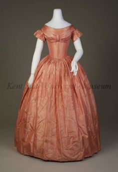 1846 ca. american Evening  Dress ksu
