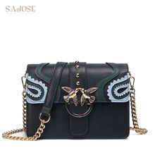 Cheap leather shoulder bag, Buy Quality bag ladies directly from China girls crossbody bags Suppliers: SAJOSE 2017 Female Brand Hand Bag Woman Messenger Bags Lady Rivet chain Women Fashion Leather Shoulder Bag Girl Crossbody Bags Chain Shoulder Bag, Leather Shoulder Bag, Shoulder Bags, Women's Bags, Leather Chain, Leather Bag, Cross Body, Girls Bags, Hobo Handbags