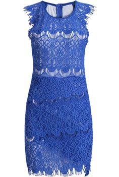 Shop Blue Sleeveless Round Neck Bodycon Lace Dress online. Sheinside offers Blue Sleeveless Round Neck Bodycon Lace Dress & more to fit your fashionable needs. Free Shipping Worldwide!