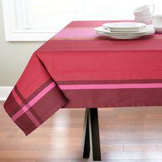 Linges de table Jacquard Vin/Fushia