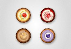 How to Create Delicious Cupcake Icons in Adobe Illustrator Design Envato Tuts Design & Illustration Graphic Design Tutorials, Graphic Design Inspiration, Design Blogs, Cupcake Icon, Cupcake Tutorial, Adobe Illustrator Tutorials, Food Illustrations, Icon Design, Design Design