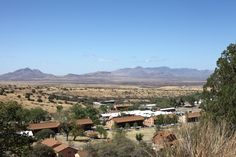 The Old Post section of Fort Huachuca can be seen from the Huachucas. Wide-ranging grassland beyond the Army post is part of a 2,500-square-mile range used to test sensitive military intelligence.