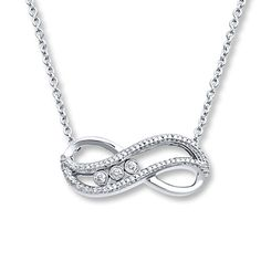 65c28822e Your diamonds will move with you down the aisle in this infinity necklace  from the Diamonds