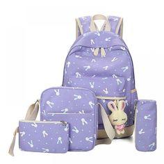 LBYMYB Cartoon Creative Animal Pattern Elementary School Junior High School Student Bag Kidss Backpack Color : D