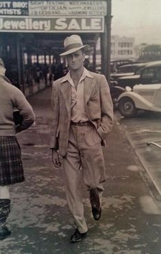 Guy in New Zealand actually pulling off a fedora 1937