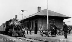 Chicago & North Western depot at Marshall, Minnesota built in 1885.