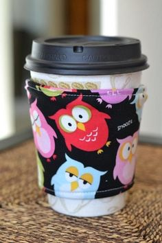 owls coffee cozy  personalized hooded towels, Christine Taylor Designs FOR THE LADIES