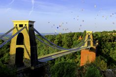 5. Hot Air Balloons and Clifton Suspension Bridge Bristol by Alison Zak-Collins / Picfair