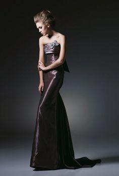 Sheath Strapless Pleated Bustline Bow Taffeta Evening Dress-soe0016,  $174.95