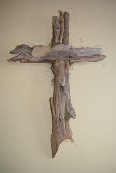Medium Driftwood Wall Cross by EagleCountryCreation on Etsy, $25.00