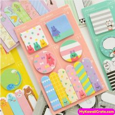 Animal Cat Panda Cute Kawaii Sticky Notes Post It Memo Pad School Supplies Planner Stickers Paper Bookmarks Korean Stationery Korean Stationery, School Stationery, Cute Stationery, Notebook Stationery, Stationery Items, Stationery Paper, Notes Autocollantes, Sticky Notes, Notes Free