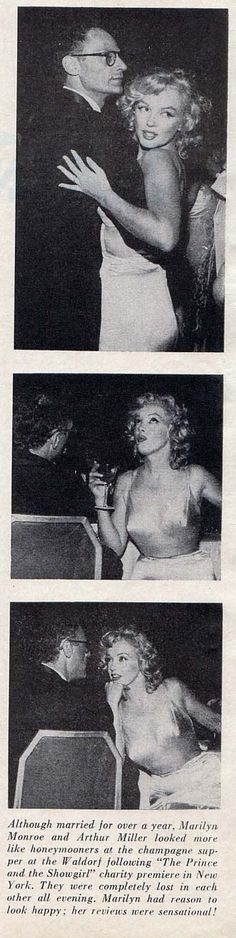 1957: Marilyn Monroe at the premier of the Prince and the Showgirl