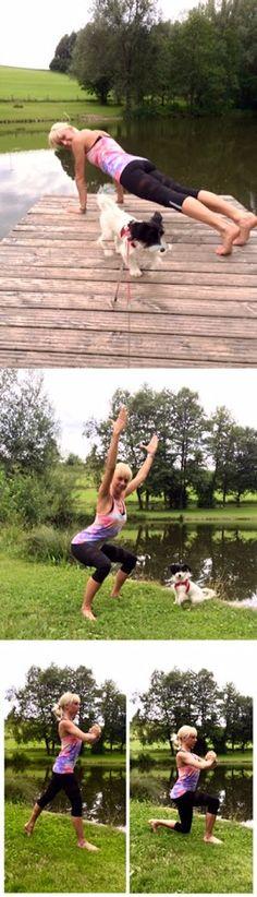 Heute schon Trainiert?  Nina und Emma waren heute Morgen schon fleißig und haben ihre Trainingseinheit nach draußen verlegt. Nach #Squats, #Liegestütze und co. - geht es mit einem Sprung in den See zur Abkühlung. #lovefitness #enjoysummer  https://www.kuebler-sport.de/