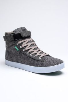 Herringbone Hi-Top Sneakers / KEEP