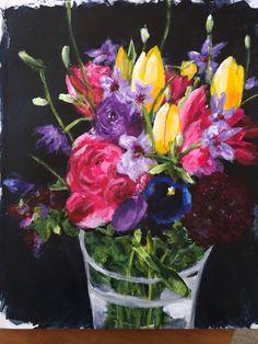 Art journal, mixed media, florals, ArtbyBets, Pinterest inspired