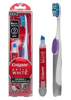So far so good! I can see a difference in just 3 days! :) Thank you @Influenster. Colgate Optic White Toothbrush + Whitening Pen.
