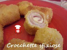 Crocchette sfiziose con prosciutto e formaggio