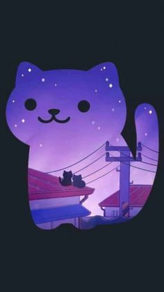 kawaii and neko image I Love Cats, Crazy Cats, Cute Cats, Neko Atsume Wallpaper, Art Mignon, Cat Drawing, Cute Wallpapers, Cat Art, Cats And Kittens