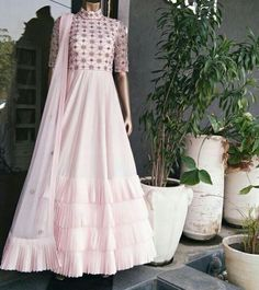 """Best 12 """"Frock Suit – Checkout latest collection of Frock Suits for ladies Online in India. Shop for Long Frock Suit, Cotton Frock Suit, Girls Frock Suit at Maharani Designer Boutique"""" Indian Designer Suits, Designer Gowns, Indian Gowns Dresses, Pakistani Dresses, Indian Attire, Indian Outfits, Heavy Dresses, Frocks For Girls, Girls Dresses"""