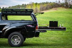 Click this image to show the full-size version. Truck Bed Box, Truck Bed Storage, Truck Canopy Camping, Truck Camping, Toyota Tacoma Interior, Decked Truck Bed, Tacoma World, Bed With Drawers, Camper Interior