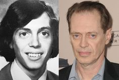 Steve Buscemi as a Senior at Valley Stream Central High School in New York in 1975 and Steve Buscemi in 2012