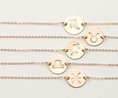 Delicate Silver or Rose Gold Zodiac Bracelet, Personalized Dainty Horoscope Jewelry Gift