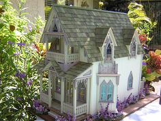 Dollhouses by Robin Carey: The Vineyard Cottage (Stunning -- click through for more pictures)