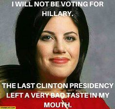 Monica Lewinsky Hillary Clinton Vote