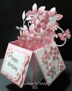 POP-UP BOX BIRTHDAY CARD by: carolynshellard
