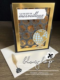 Stampin Up, Scrapbook, Masculine Cards, Beautiful World, Old World, Cardmaking, Traveling By Yourself, Catalog, Globe