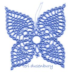 TATtle TALES Tatting Patterns - All Pineapple Butterflies are designed and tatted by Teri Dusenbury.