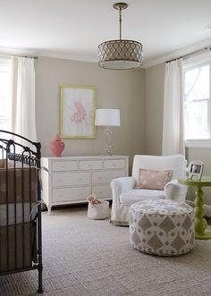 nursery | pale pink + beige