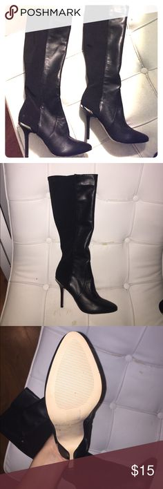 Black boots***both right foot*** Bought these at a charity event and when I got home realized they are both for the right foot!! Maybe someone has a left and needs the right? They are brand new, never worn. White House Black Market. Make an offer! Will sell seperate or together! White House Black Market Shoes Heeled Boots