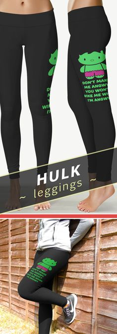 <3 Love These Don't Make Me Angwy Hulk Leggings/Yoga Pants!