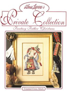 Alma Lynne's Private Collection Fantasy Father Christmas Santa Counted Cross Stitch Pattern & Instructions Like New 1992 Free Us Ship by LanetzLiving on Etsy