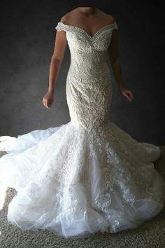 Luxury Michael Cinco copy beaded mermaid wedding dress on Etsy, $1,285.00
