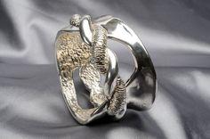 925 Sterling Silver #Electroform Bracelet by #Israeli Artist Ilana Abramovich on IlanaArtisticJewelry on #Etsy