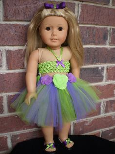 18 Doll Clothes American Girl Tutu skirt by sassydollcreations, $19.99