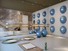 Gym Interior, Interior Design, Studio Pilates, Gym Room, Athletic Clubs, Gym Design, Workout Rooms, Hotel Spa, Academia